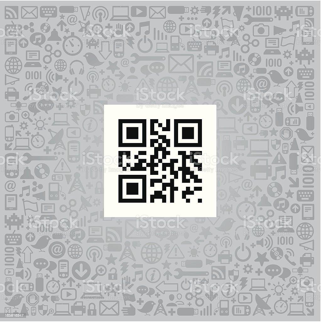 QR Code Concept vector art illustration