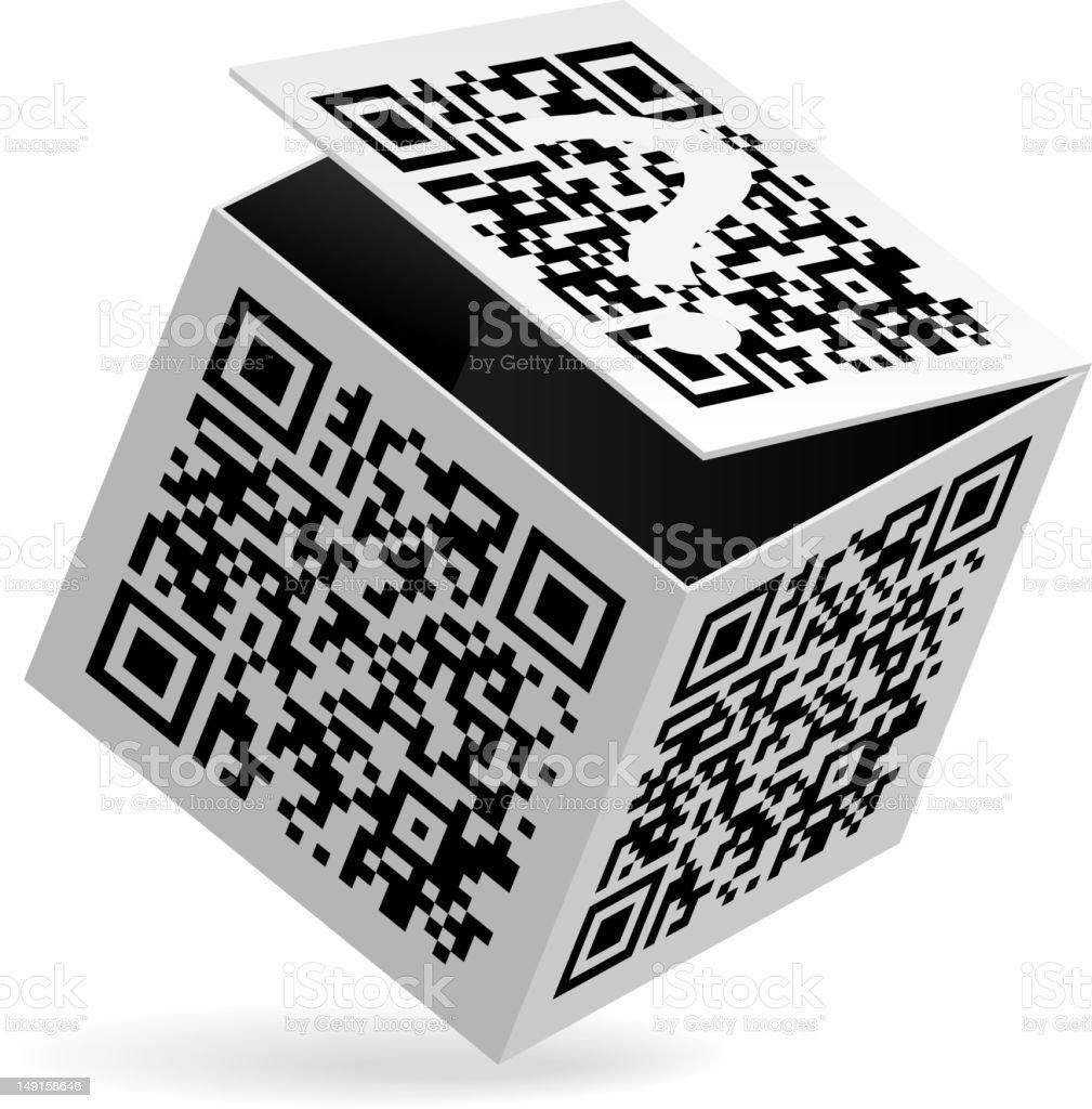 QR code on box royalty-free stock vector art