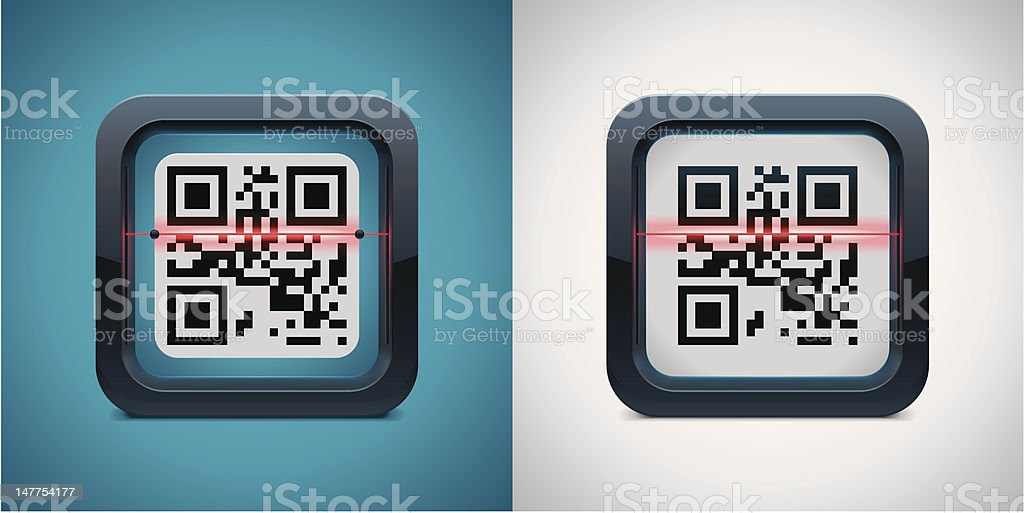 QR code scanner icon royalty-free stock vector art