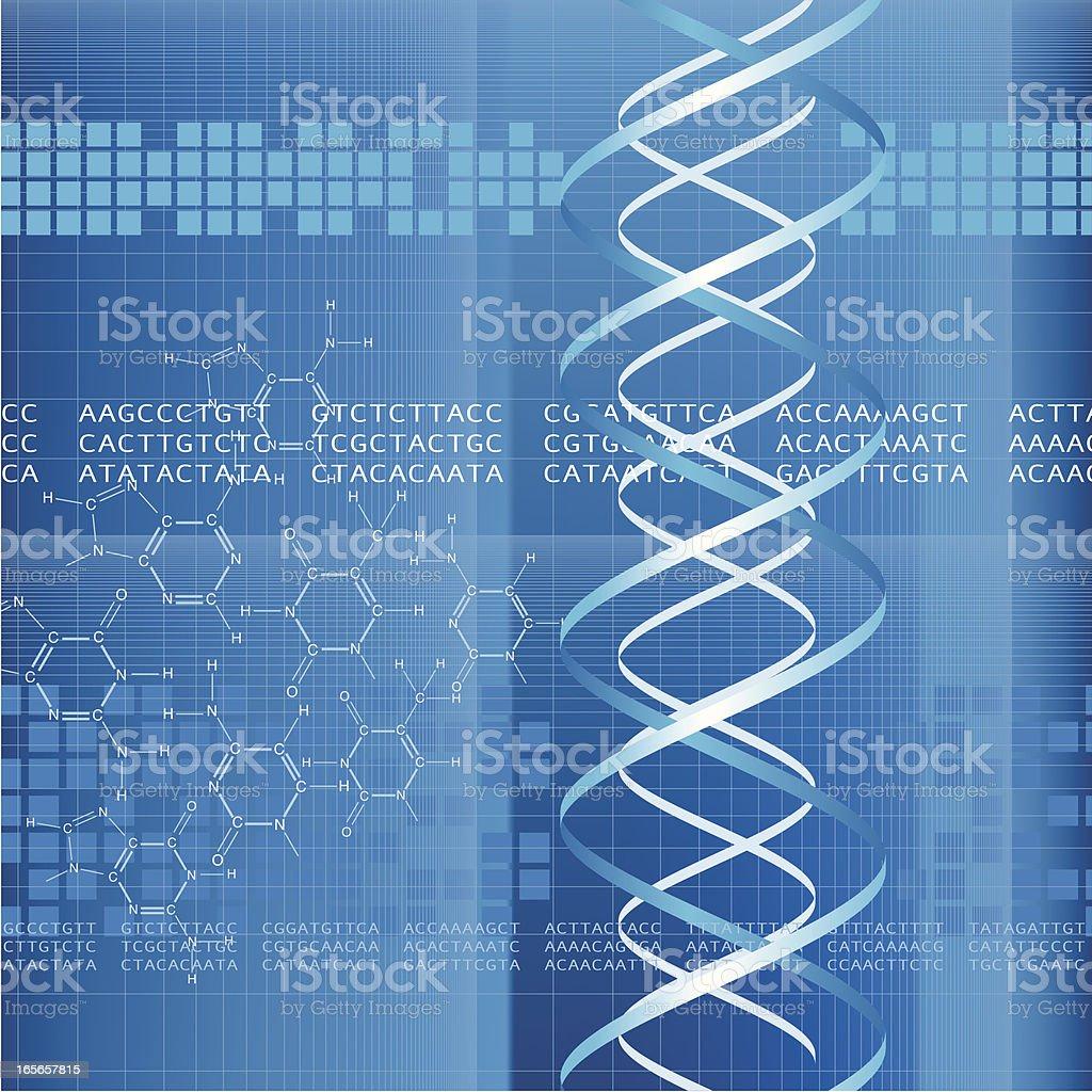 DNA Code royalty-free stock vector art
