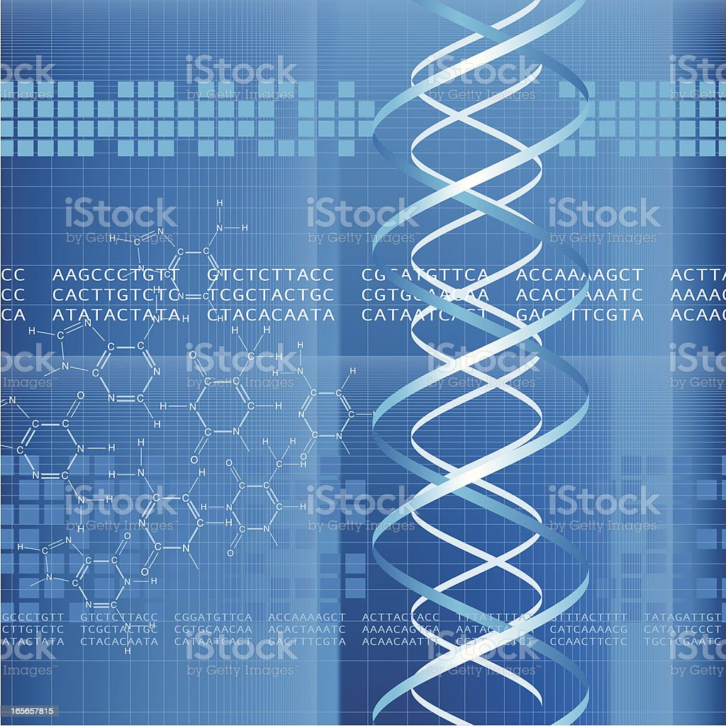 DNA Code vector art illustration