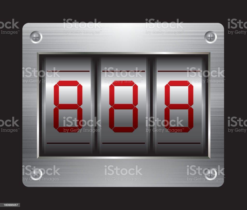 Coded lock royalty-free stock vector art
