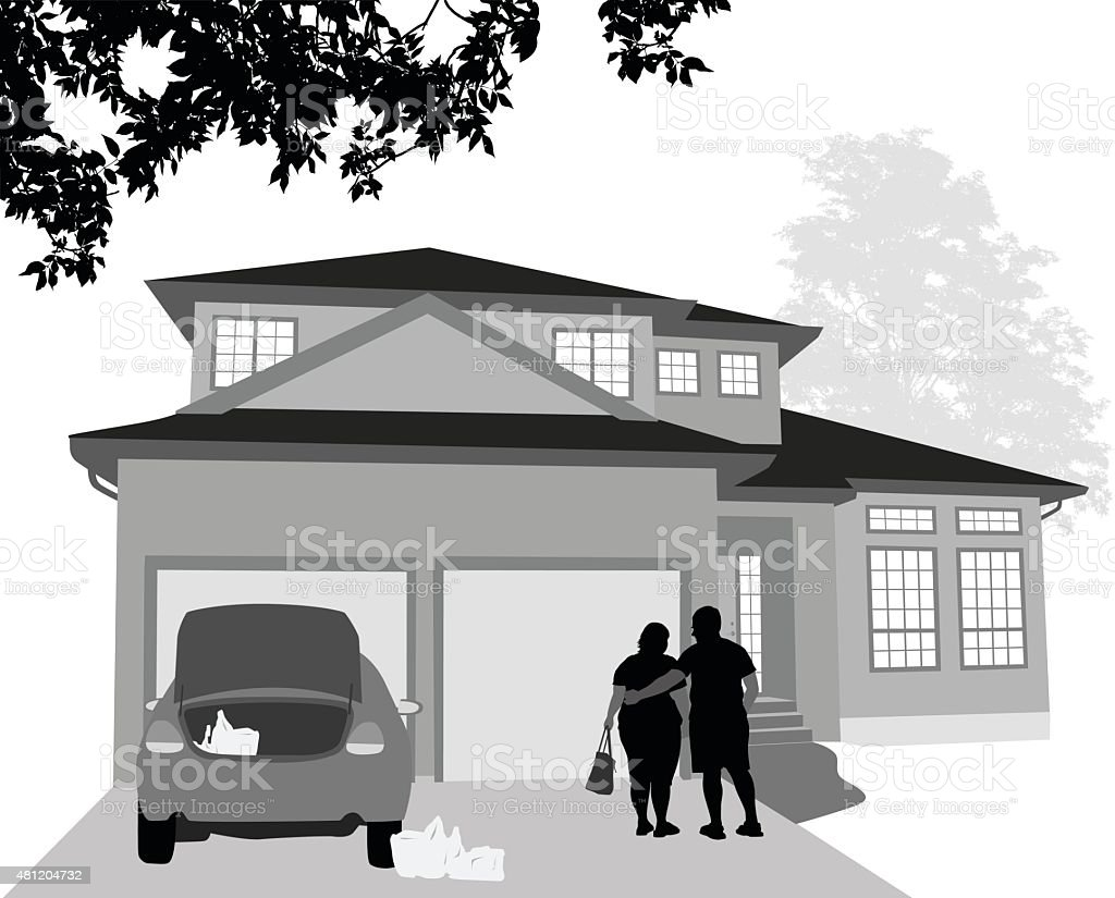 Codependant Relationship vector art illustration