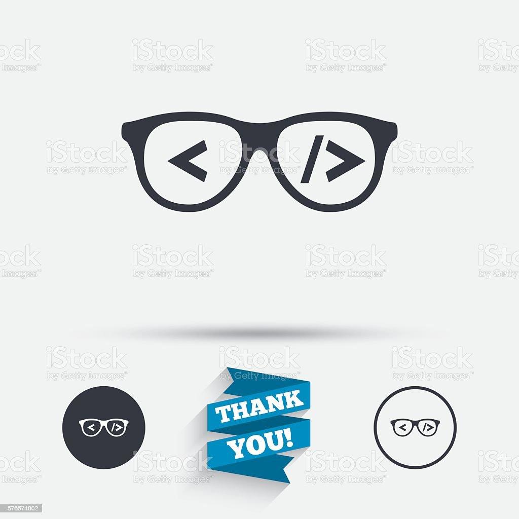 Coder sign icon. Programmer symbol. vector art illustration