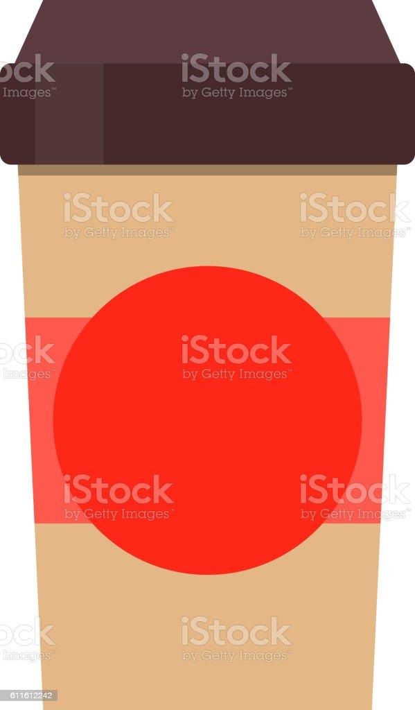 Coffe cup vector vector art illustration