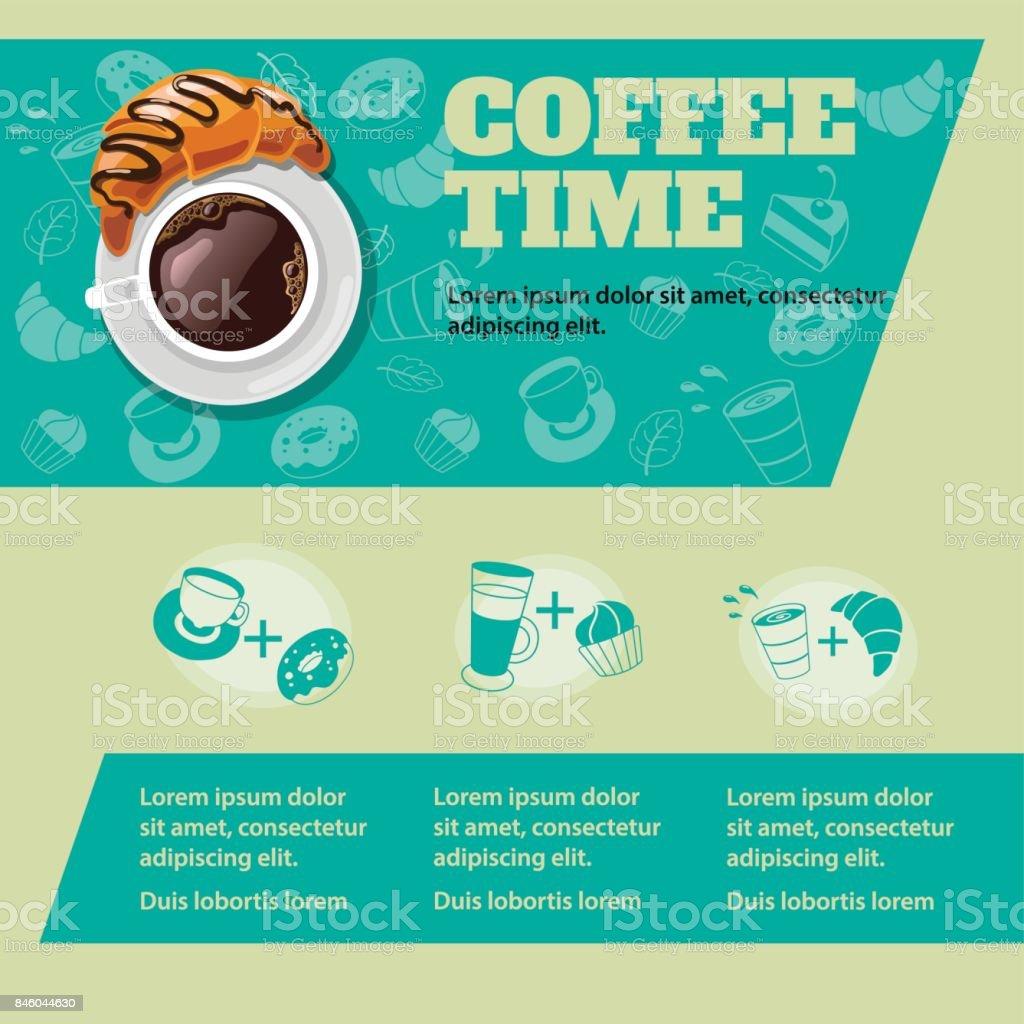 Coffe time poster vector art illustration