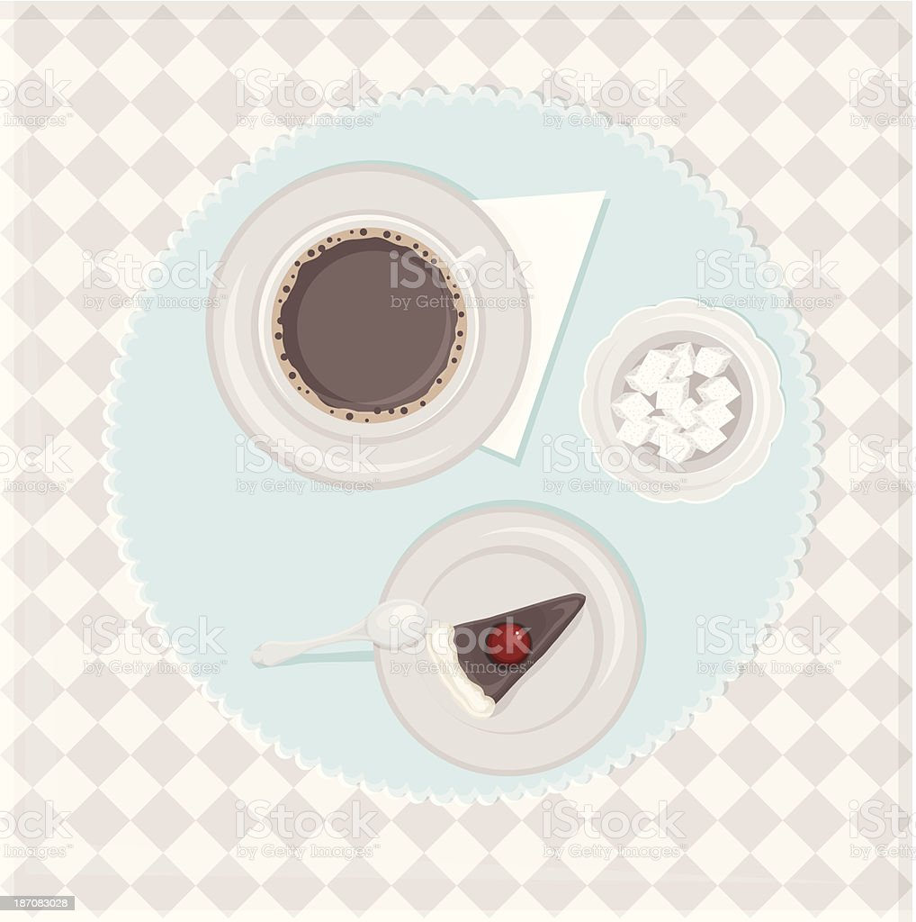 coffee and cake royalty-free stock vector art