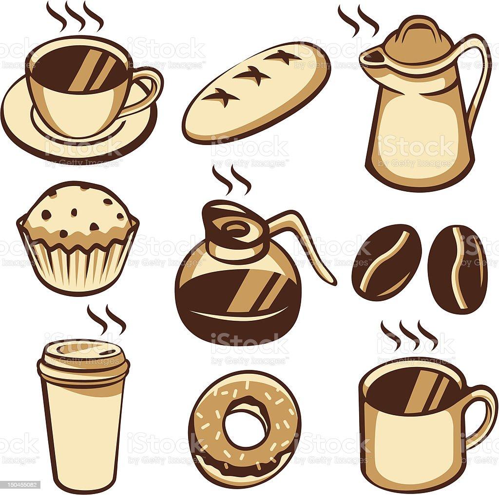 Coffee and Coffeeshop Elements vector art illustration