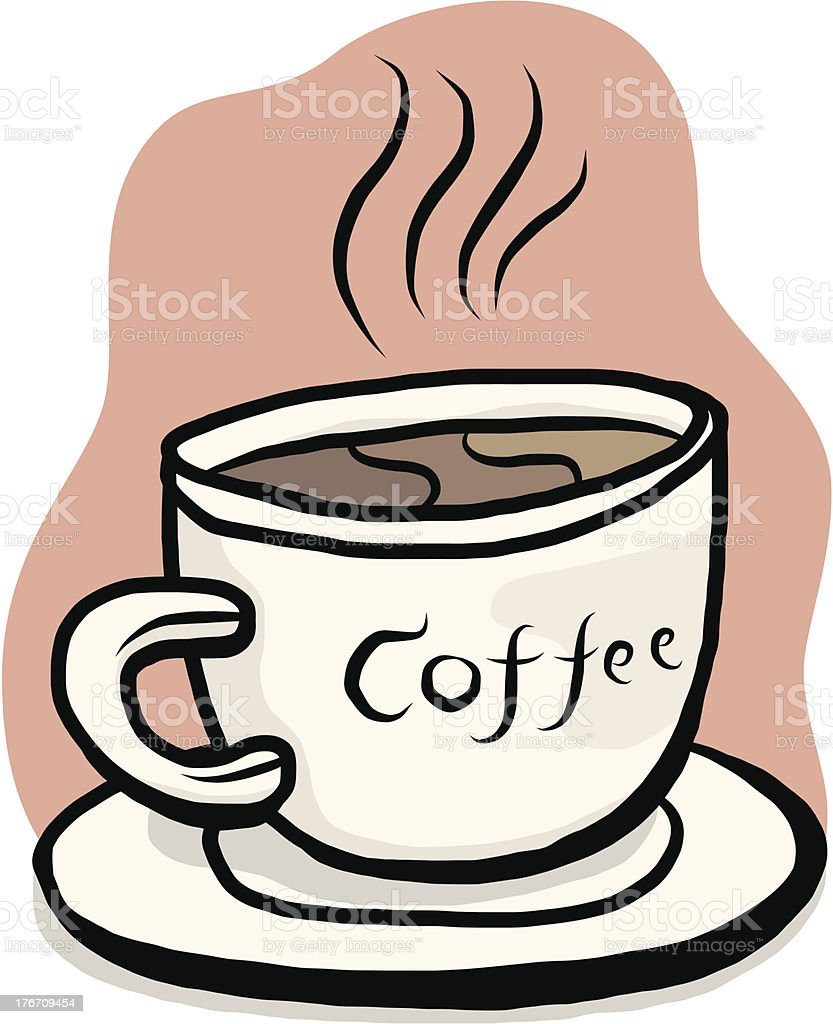 coffee and cup royalty-free stock vector art