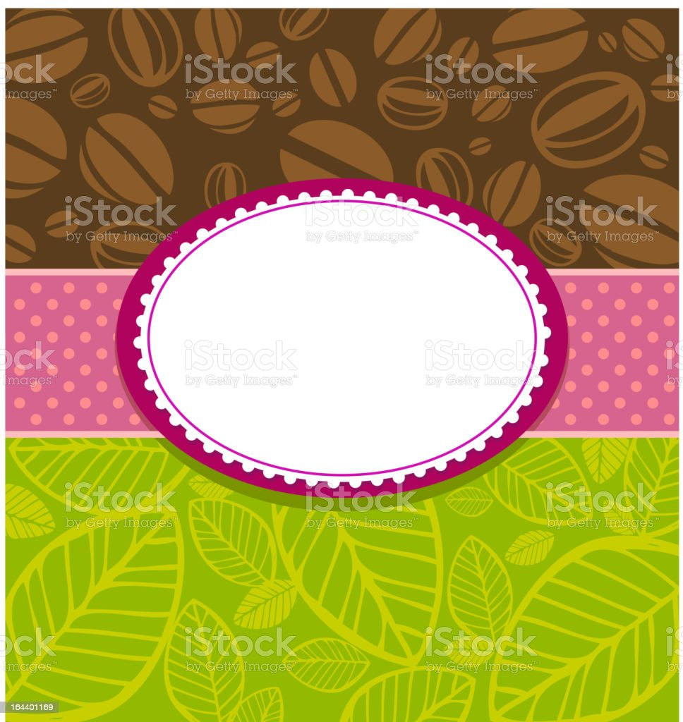 Coffee and Tea Background. royalty-free stock vector art
