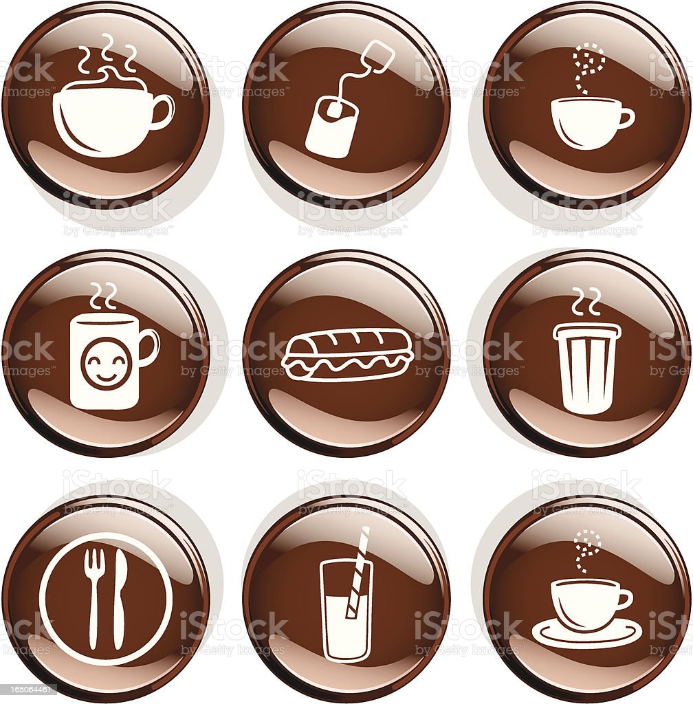 Coffee and Tea Badges royalty-free stock vector art