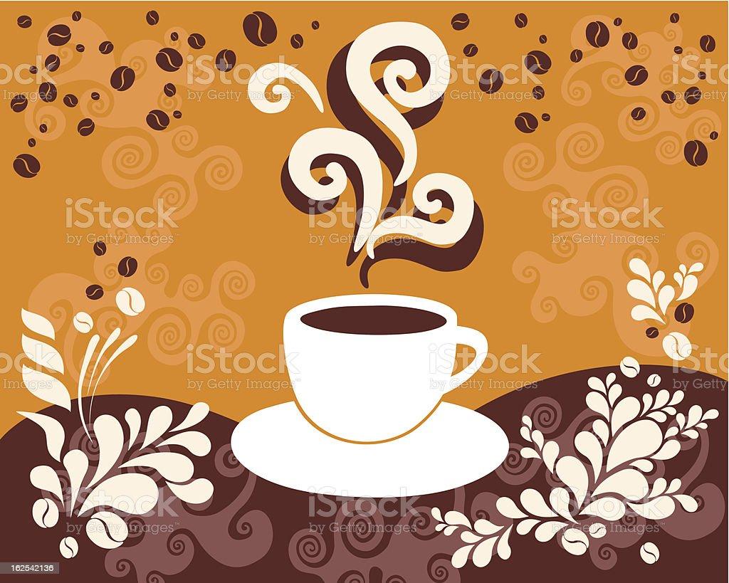 Coffee aroma royalty-free stock vector art