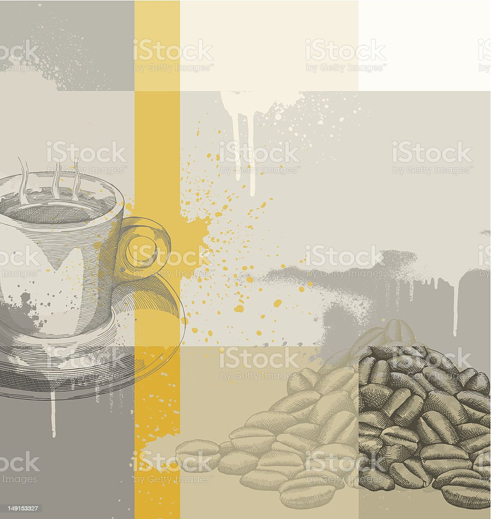 Coffee Background vector art illustration