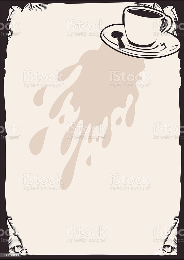 Coffee Background. royalty-free stock vector art