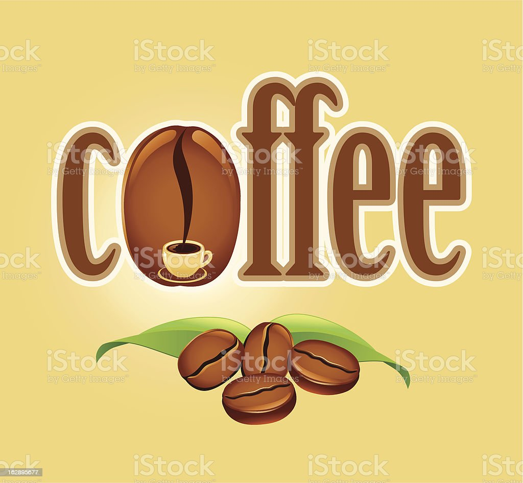 coffee background with beans royalty-free stock vector art