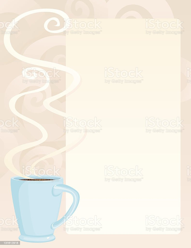 Coffee Background with Space for Text royalty-free stock vector art