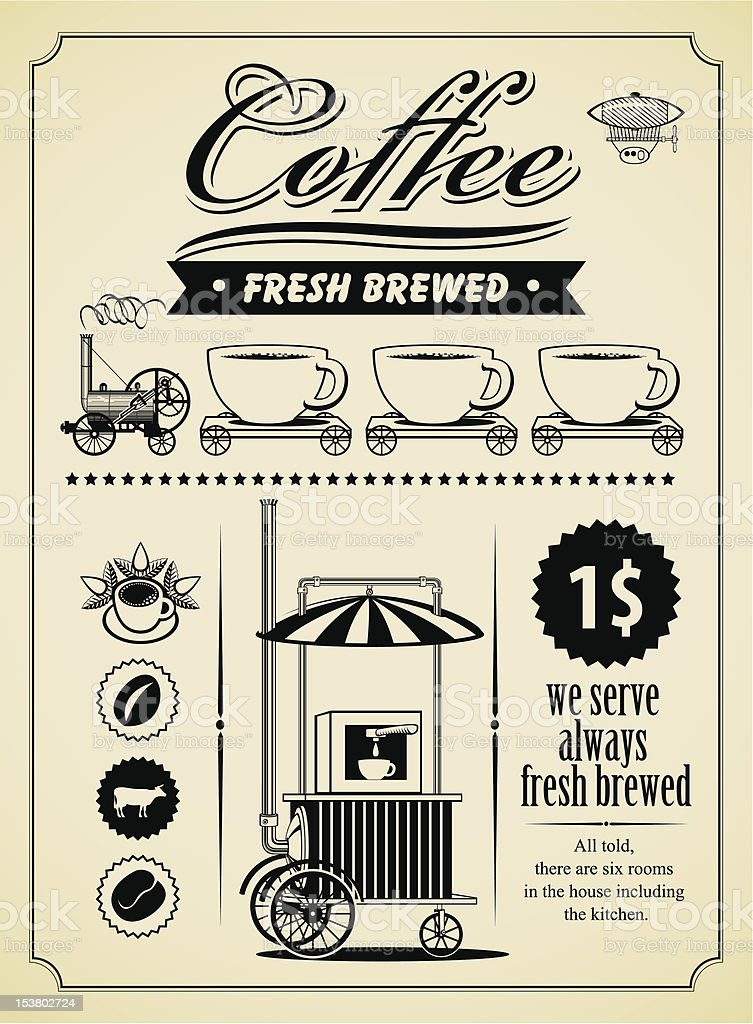 coffee banner royalty-free stock vector art