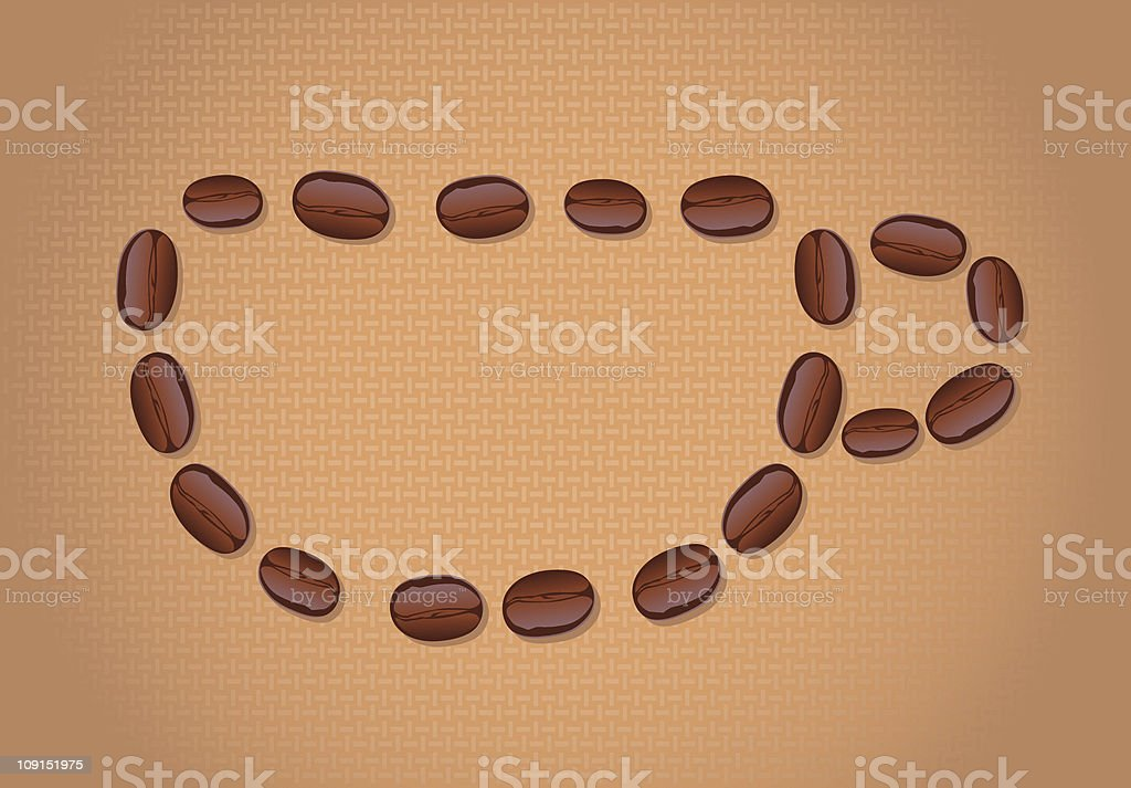 coffee bean cup royalty-free stock vector art