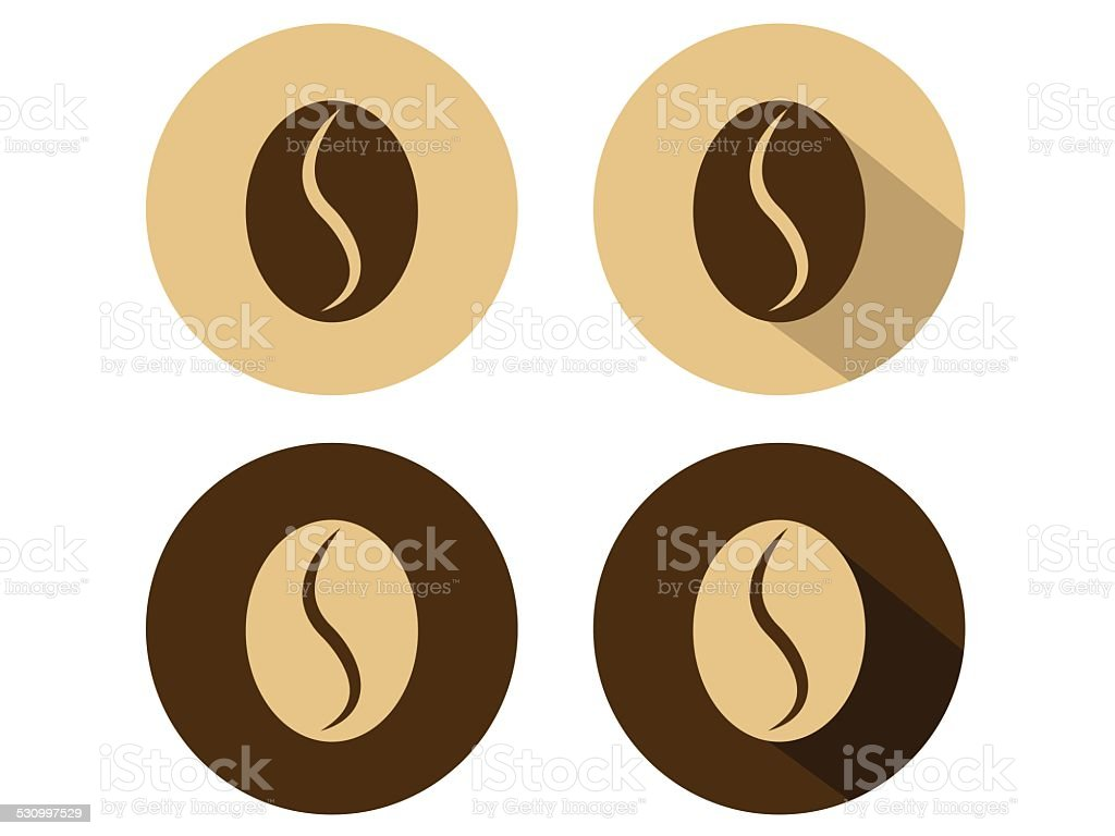 Coffee Bean Icons vector art illustration