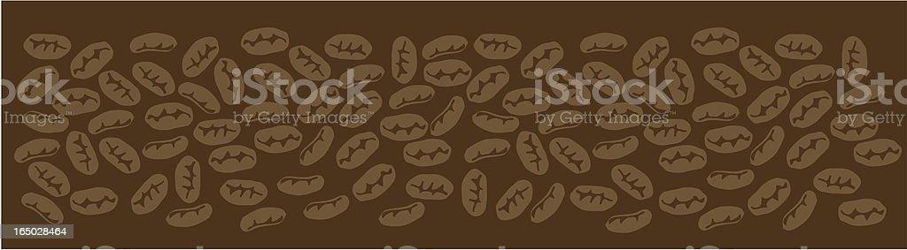 Coffee Bean Pattern Vector royalty-free stock vector art
