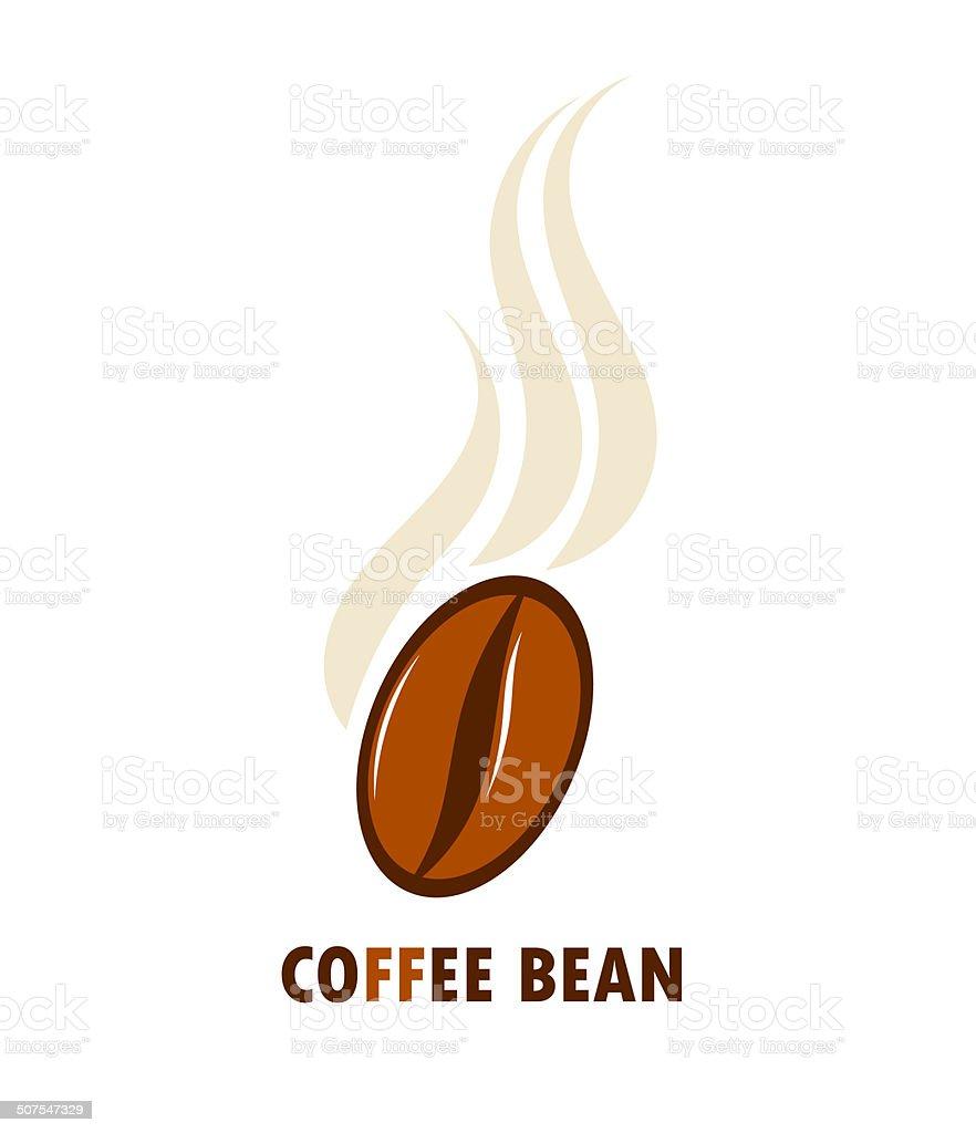 Coffee bean vector art illustration