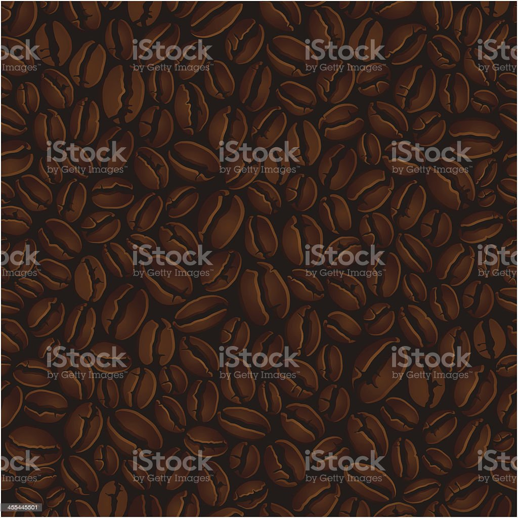 Coffee beans illustration background vector art illustration