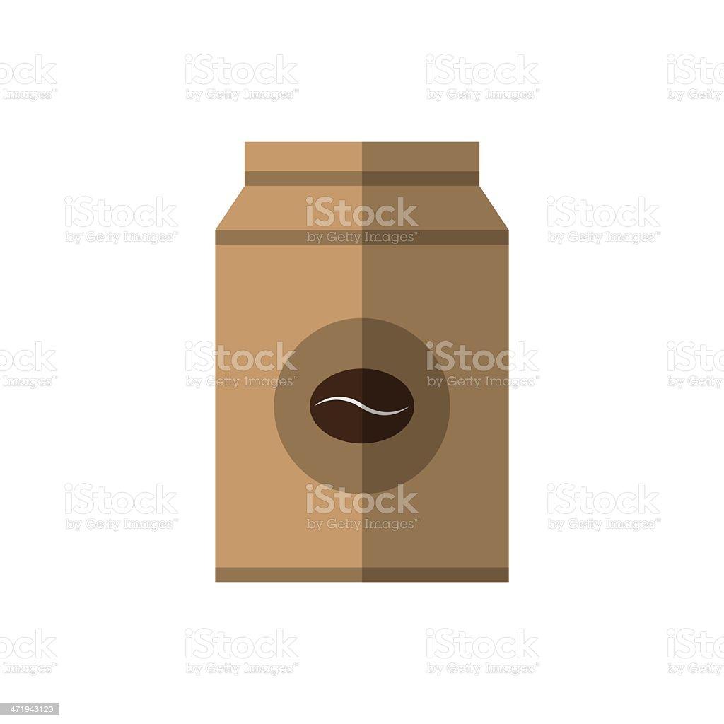 Coffee beans paper bag vector illustration vector art illustration