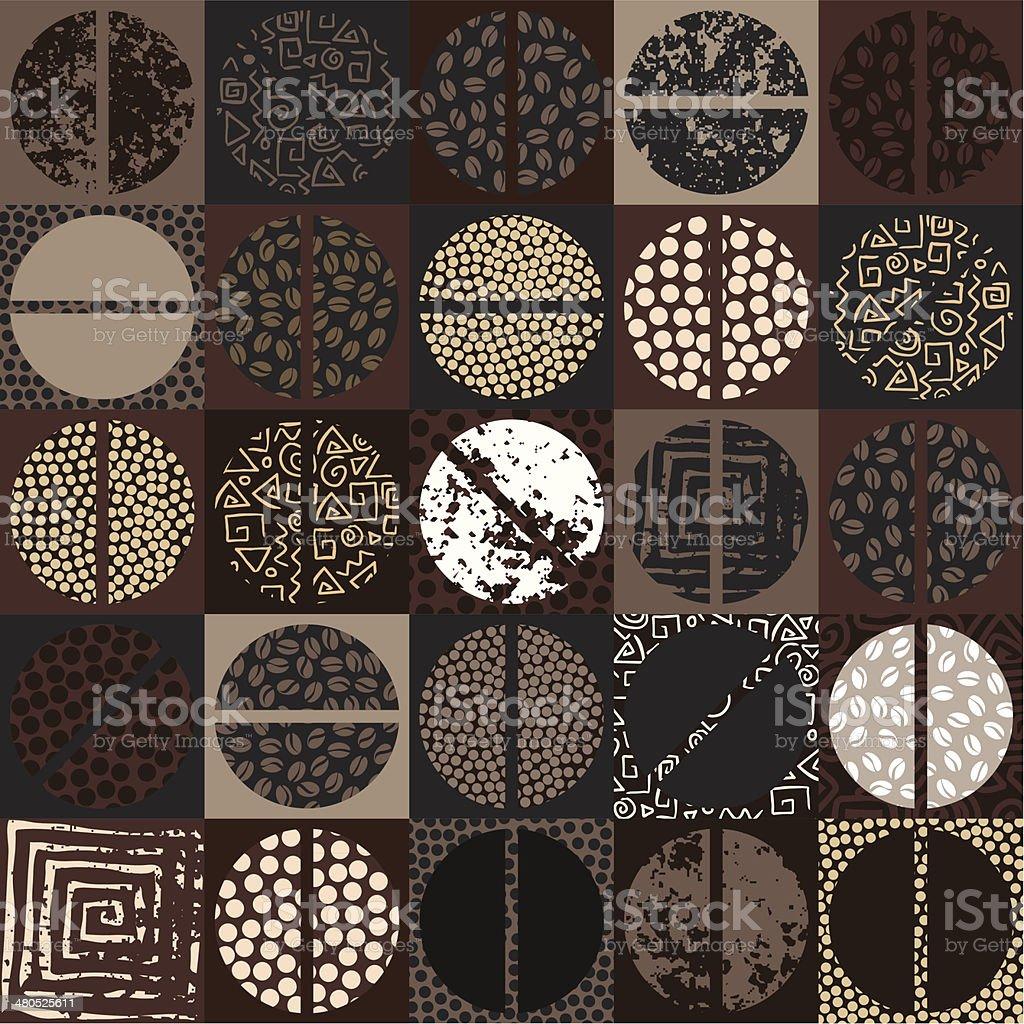 coffee beans pattern vector art illustration