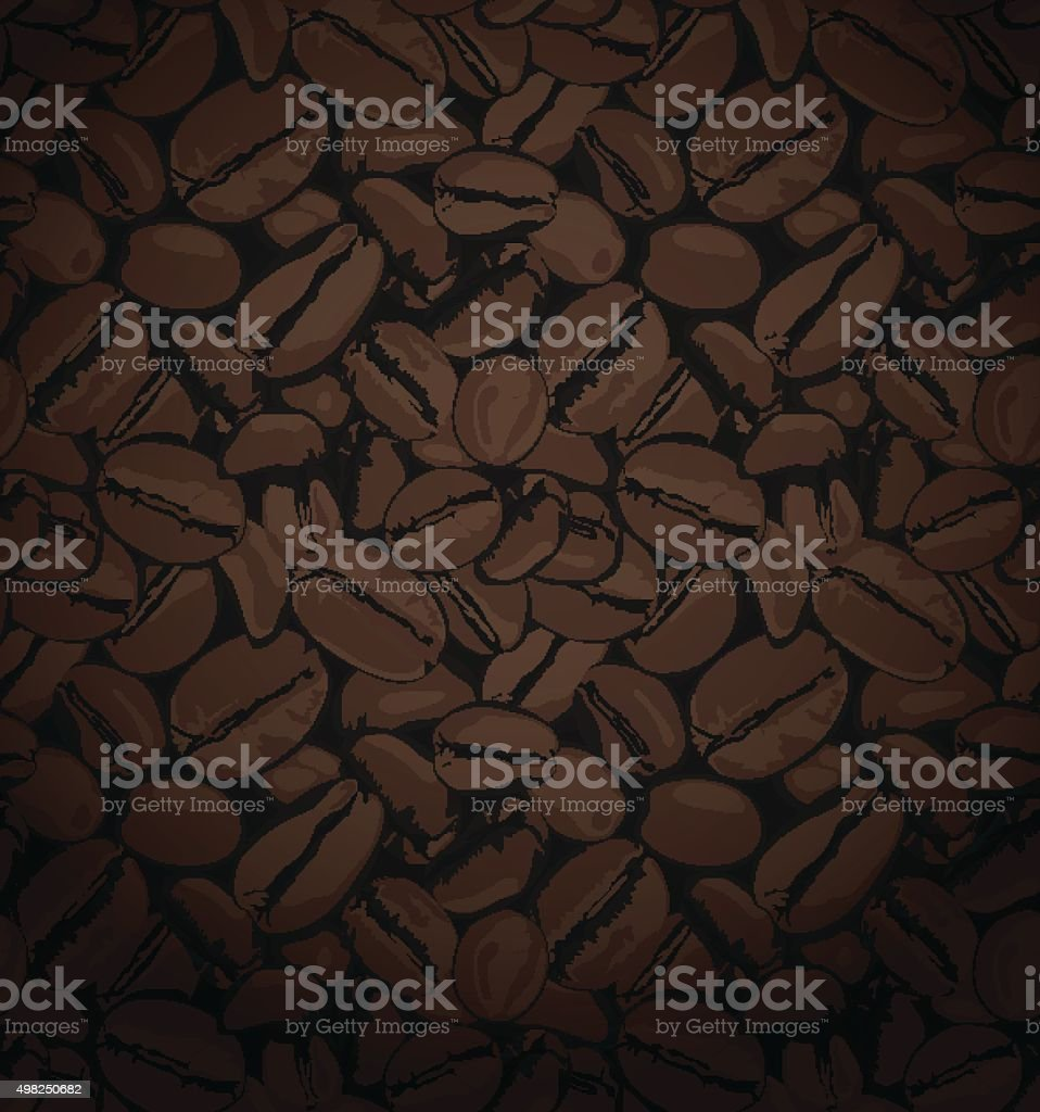 Coffee Beans Vector Background vector art illustration