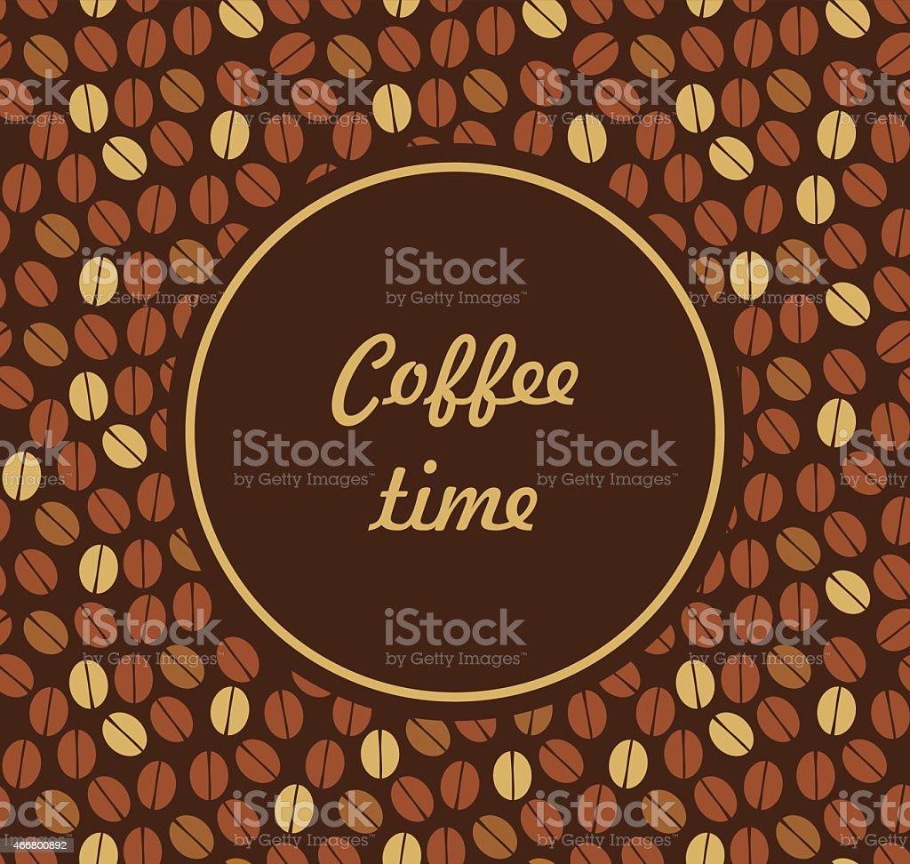 Coffee beans vector seamless pattern vector art illustration
