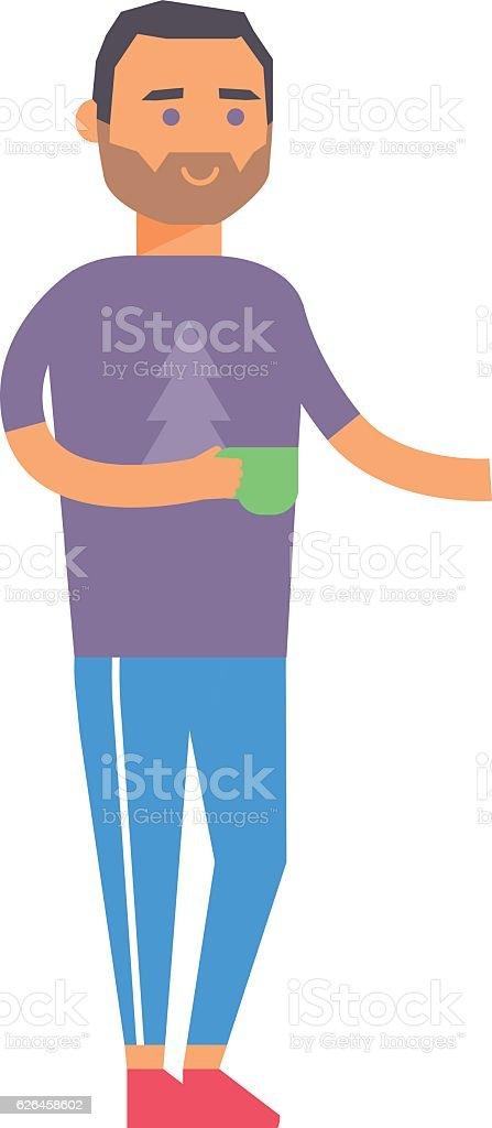 Coffee break business man vector. vector art illustration