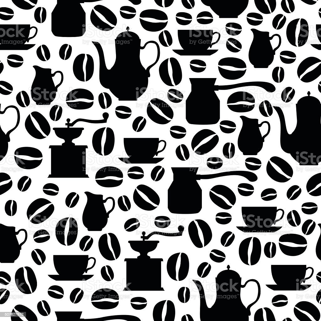 Coffee break seamless pattern vector art illustration