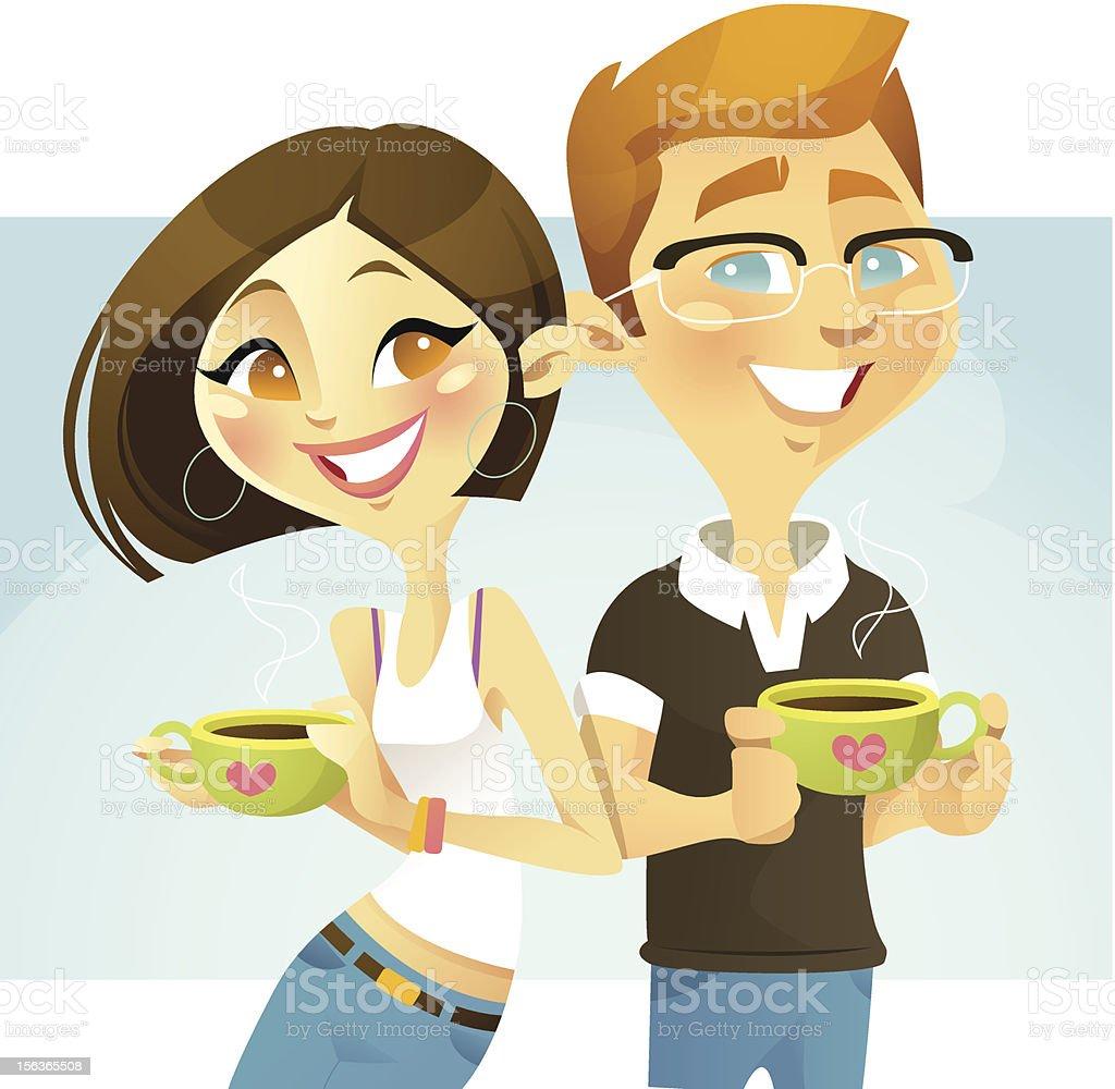 Coffee Buddy vector art illustration