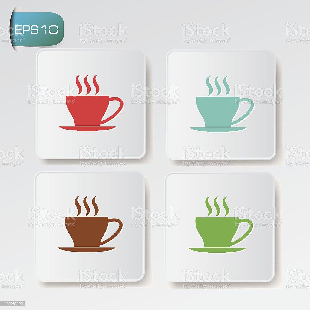Coffee buttons,vector vector art illustration