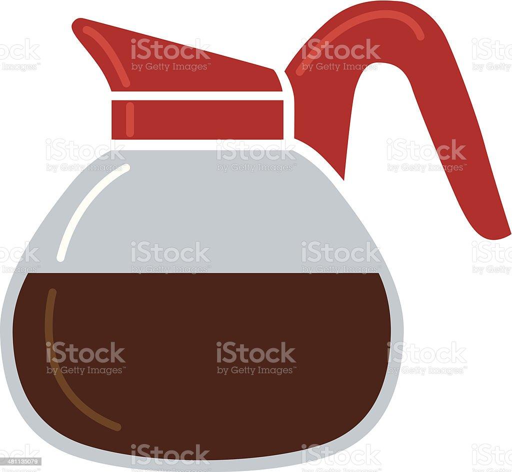 coffee carafe vector art illustration