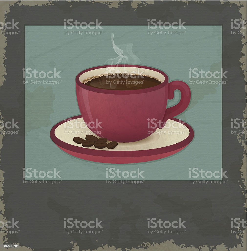 Coffee card stock photo