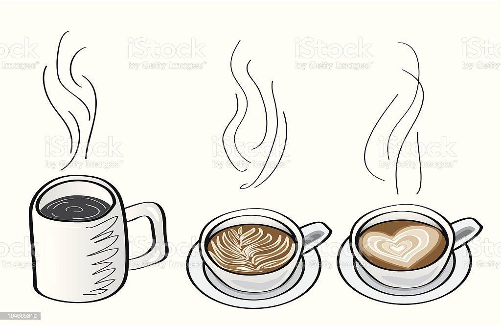 coffee cartoon illustrations royalty-free stock vector art