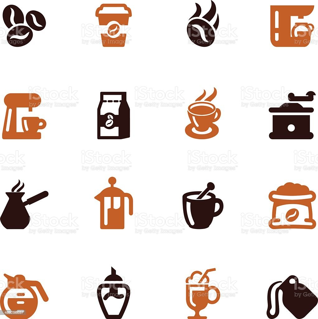 Coffee Color Series  icons l EPS 10 vector art illustration
