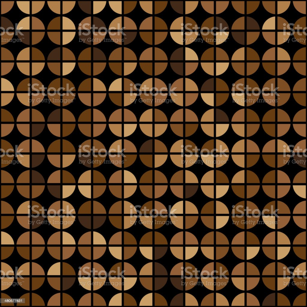 Coffee Colors Rings Diagram Seamless Pattern vector art illustration