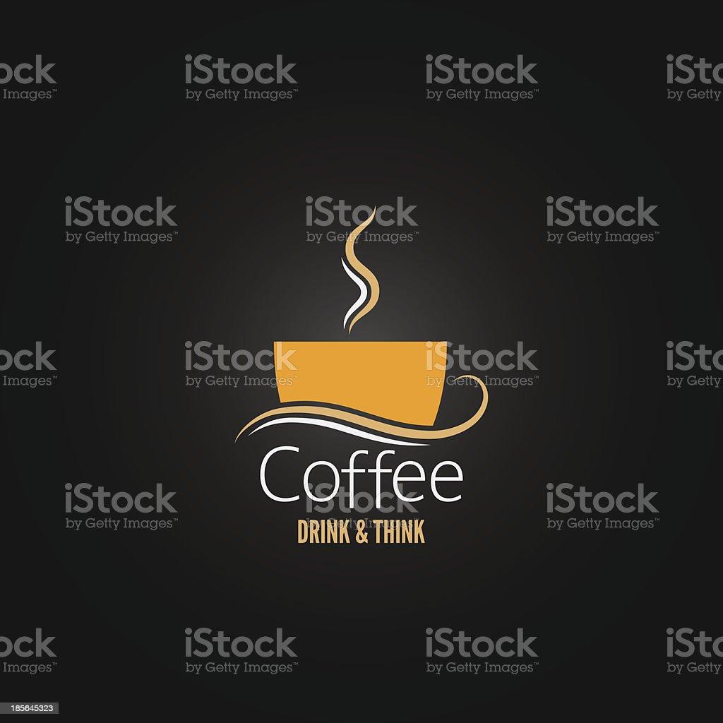coffee concept design vector art illustration