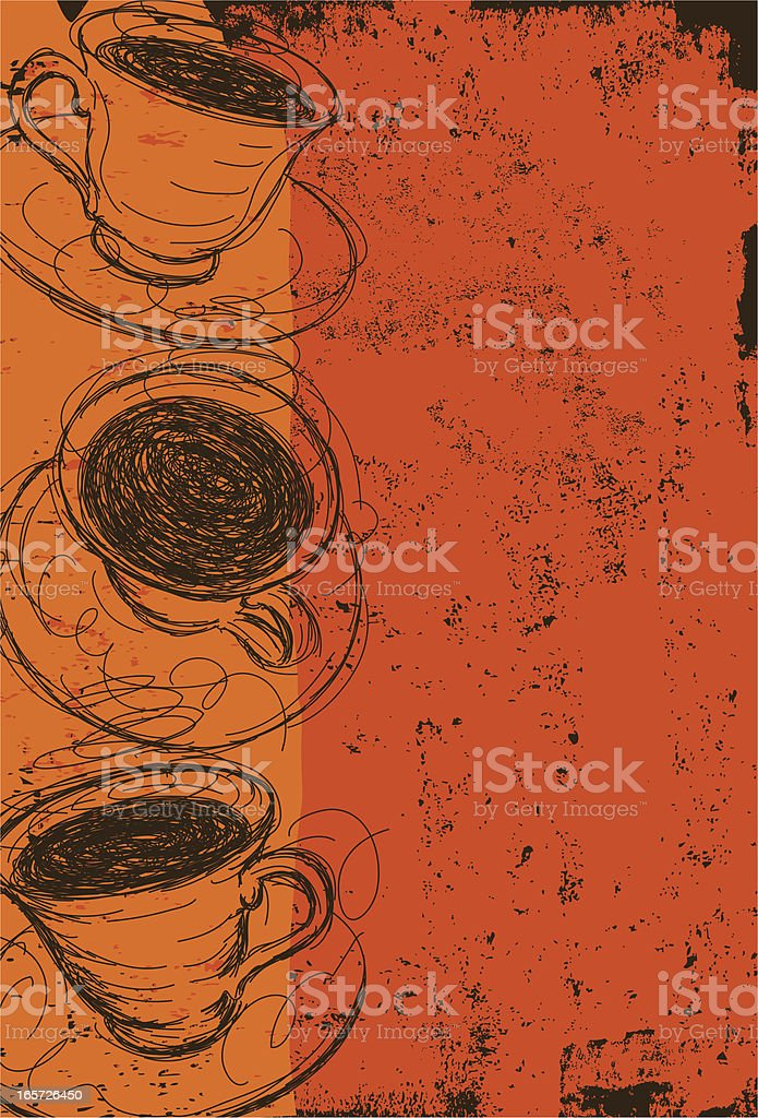 coffee cup abstract vector art illustration
