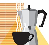Coffee cup and coffee machine
