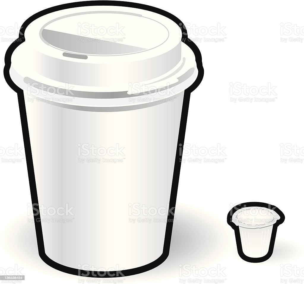 Coffee Cup and Creamer vector art illustration