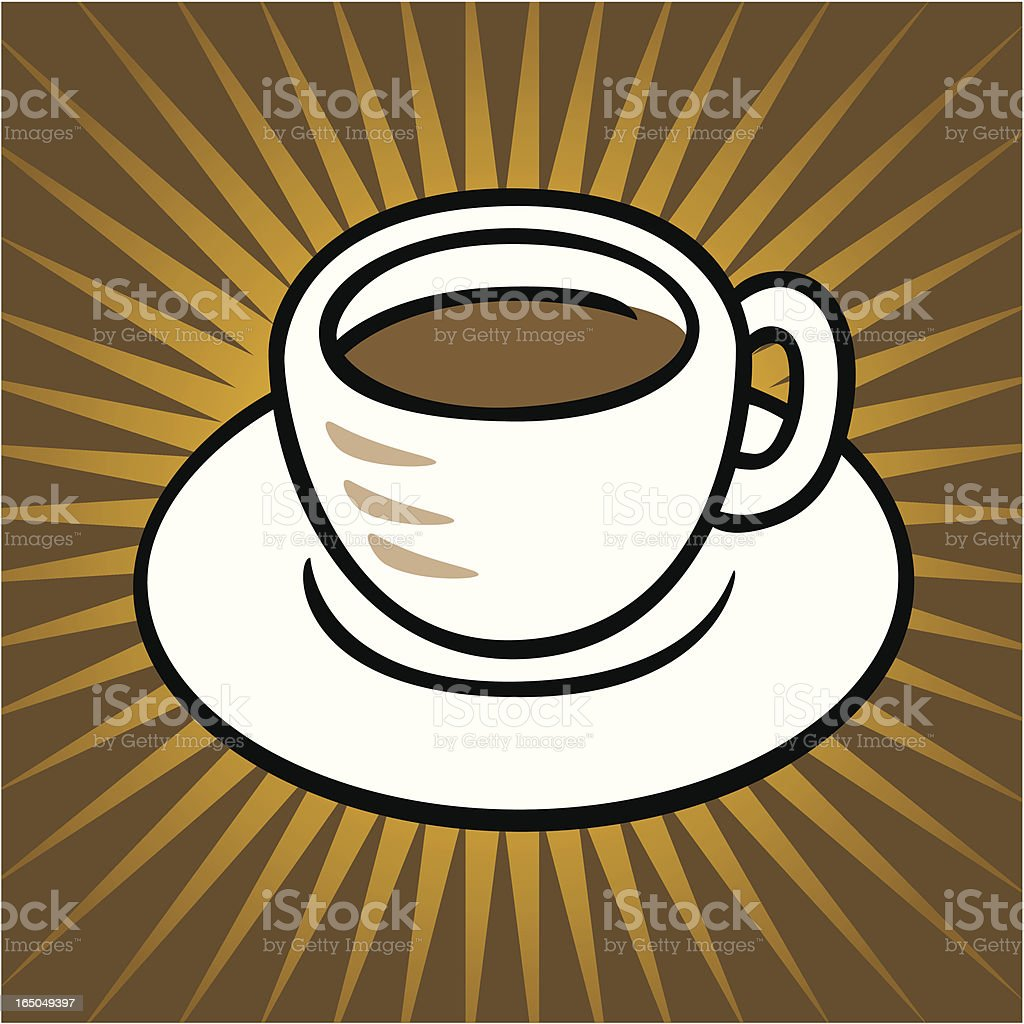 Coffee Cup And Saucer royalty-free stock vector art