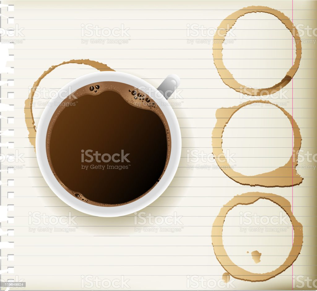 coffee cup and stains royalty-free stock vector art