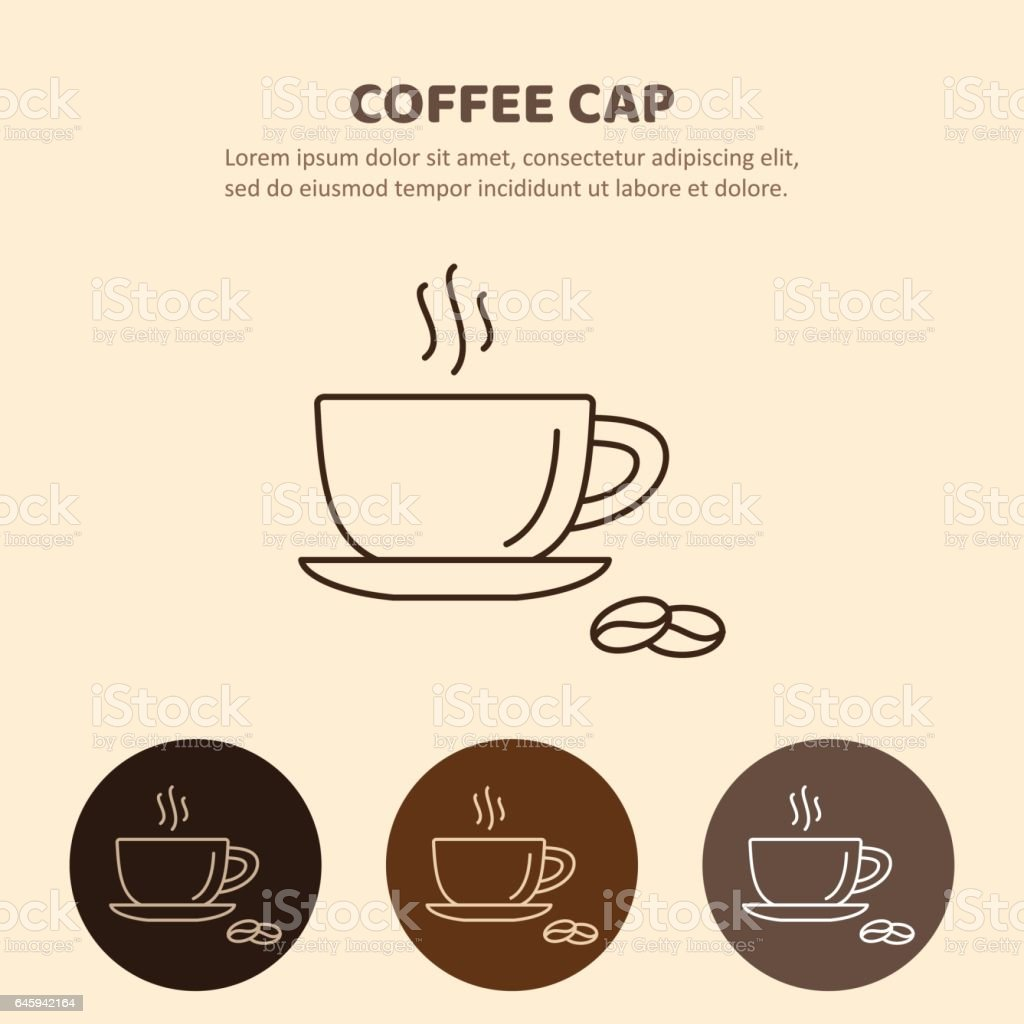 Coffee cup and Tea cup liner icon vector art illustration