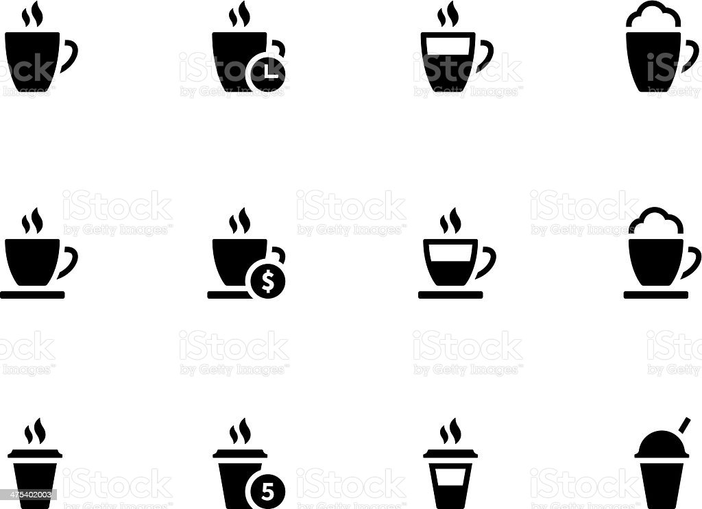 Coffee cup and Tea mug icons on white background. royalty-free stock vector art