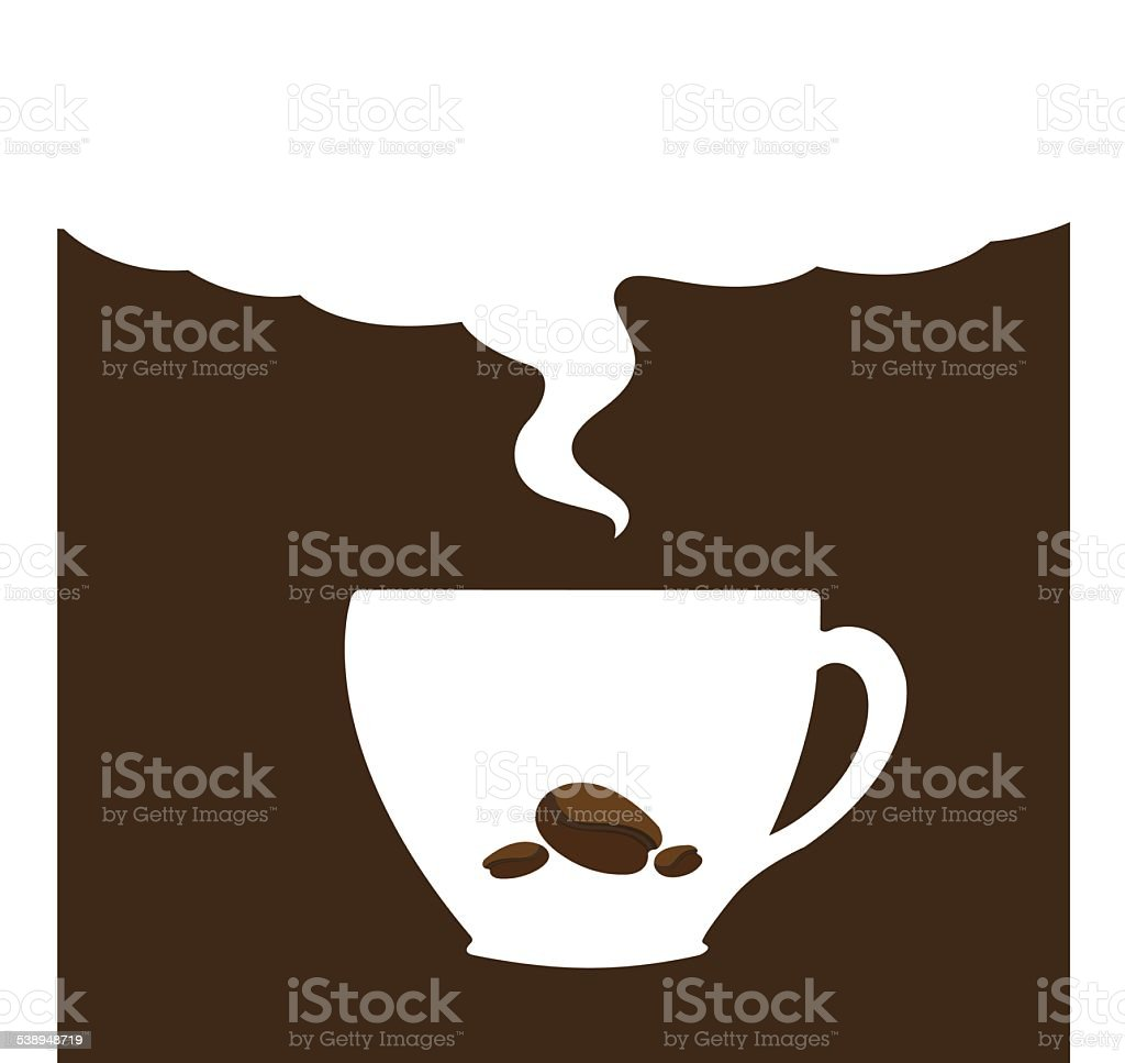 coffee cup background vector art illustration