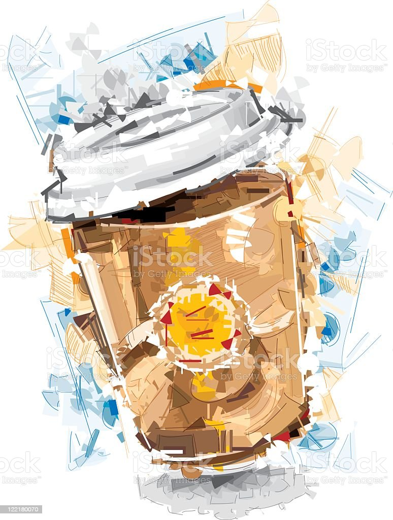 coffee cup break vector art illustration