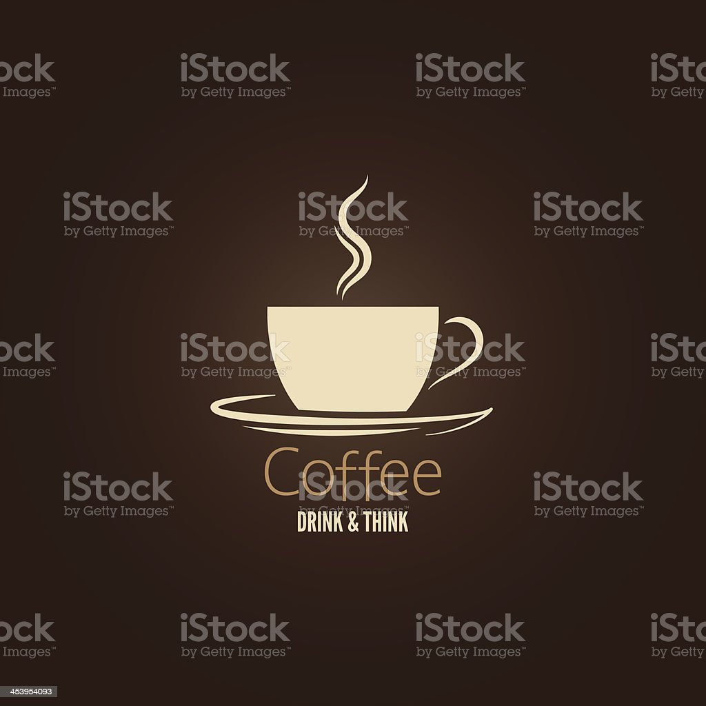 coffee cup design background vector art illustration